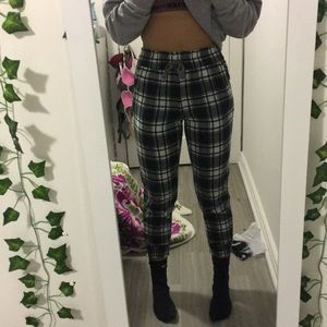 aerie plaid pajama pants joggers